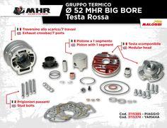 BIG BORE Testa Rossa 94 cc, compatibile sia con i motori originali Piaggio e Yamaha che con il nuovo carter C-One Malossi: la famiglia BiG BORE si allarga ➠ http://bit.ly/1FYZ5In  BIG BORE Testa Rossa 94 cc, compatible both with original Piaggio and Yamaha engines and the C-One Malossi case: the BIG BORE family is growing to 94cc ➠ http://bit.ly/1Onoxsc