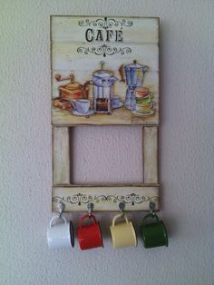 Handmade Crafts, Diy And Crafts, Coffee Bars In Kitchen, Decoupage Vintage, Victorian Decor, Coffee Signs, Vintage Wood, Diy Craft Projects, Wood Print