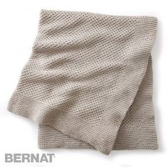 Free Beginner Afghan Knit Pattern | Bernat | Yarnspirations | Bernat Maker | Free Pattern