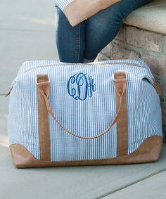 c16aca9c44e Preppy Seersucker Vintage Style Monogrammed Duffle Bag by KDoreDesigns on  Etsy https   www.etsy.com listing 261416120 preppy-seersucker-vintage-sty…