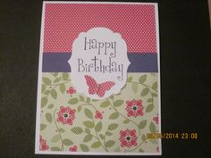 Stampin'Up! card idea | Birthday or any occasion | by SU Demonstrator Shirley McKay, The Daily Stamper