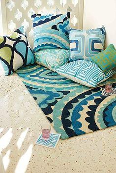 trina turk pillows!  Lovin' the turq! #turquoise #pillows