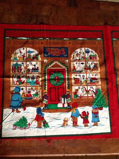 Christmas Fabric Panel Toy Store Window pillow supply