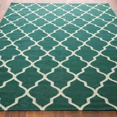 Diamond Trellis Dhurrie Rug-foyer- my perfect rug