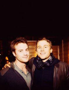 charlie hunnam and robert kazensky. two adorable guys<3