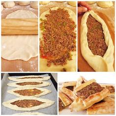 Flatbread with minced meat - Leziz Kıymalı Pide - Turkish recipes - International Food Pancake Healthy, Best Pancake Recipe, Pizza Recipes, Cooking Recipes, Turkish Recipes, Ethnic Recipes, Sauce Pizza, Pancakes From Scratch, Chocolate Chip Pancakes