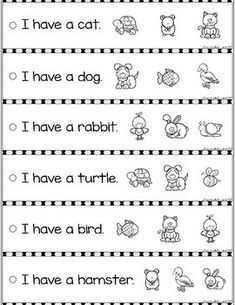 Free reading fluency and comprehension sentence strip education kindergarten worksheets week 8 first of numbered passages Phonics Reading, Teaching Reading, Reading Comprehension, Free Reading, Guided Reading, Teaching Spanish, Preschool Learning Activities, Kindergarten Literacy, Literacy Centers