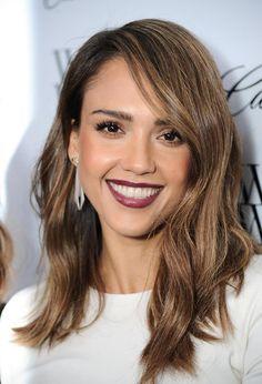Jessica Alba, hair, style, lipstick