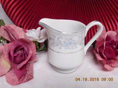 Mikasa, china dinnerware Dresden Rose, pattern #L9009  Creamer Mikasa Fine China, Fine China Dinnerware, Dresden, Bowl Set, Rose, Glass, Pattern, Pink, Drinkware
