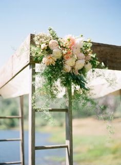 blush romantic rustic wedding, lots of pictures in this link