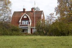 Look at this Swedish home! Looks like room for horses.