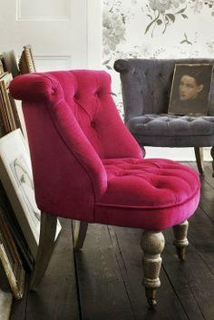 raspberry velvet Trianon chair www.grahamandgreen.co.uk