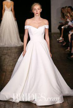 """Brides.com: . """"Darling,"""" Princess Ballgown with portrait neckline by Alyne by Rita Vinieris"""