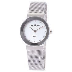 c363efdc49f6 Skagen 358SSSD Women s Stainless Steel Mesh Bracelet Strap Watch
