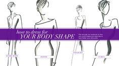 Learn how to dress for your body shape http://www.cleo.ca/style-advice/body-shape/ #StyleAdvisor #CleoFashion