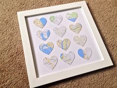 Places We've Been Together DIY!  Perfect Valentine's Day gift for travel loving couples!  lilbit.michelevenlee.com