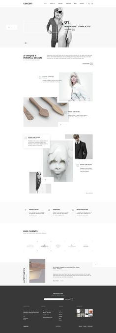 Concept is a unique project, a minimal but complex design, created to suit an open- minded business, a creative agency or an online shop. You will find it soon on Themeforest as PSD/HTML5 & CSS3/Wordpress Theme. Enjoy.