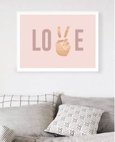 Peace Hunter Gatherer, Gold Foil Print, Rose Gold Foil, Love Rose, Limited Edition Prints, Peace And Love, Style Inspiration, Art Prints, House Styles