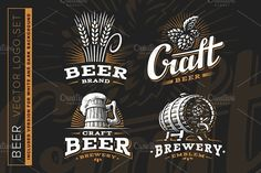 Beer logo by SODESIGN on @creativemarket