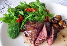 Kangaroo steak - tried both kangaroo and crocodile when I was in Australia | photo via Meat Recipes; Kangaroo Recipe Idea