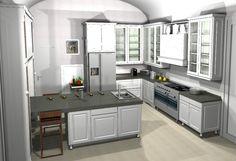 Shaker kitchen style foam a modernist house near Barcelona