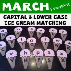 Capital and Lower Case Ice Cream Matching
