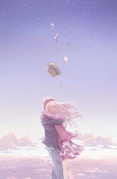 Discover all images by @ m a s s I v e. Find more awesome anime images on PicsArt. Anime Couple Love, Sad Anime Couples, Anime Couples Hugging, Love Cartoon Couple, Anime Couples Drawings, Cute Couple Art, I Love Anime, Awesome Anime, Kawaii Anime
