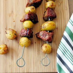 Steak Potato Kabobs are perfect for every 4th of July celebration! A simple yet impressive gluten free recipe