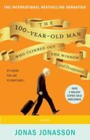 The 100-year-old man who climbed out the window and disappeared by Jonas Jonasson. Confined to a nursing home and about to turn 100, Allan Karlsson, who has a larger-than-life back story as an explosives expert, climbs out of the window in his slippers and embarks on an unforgettable adventure involving thugs, a murderous elephant and a very friendly hot dog stand operator.