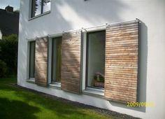 Ventana de madera corrediza , Fensterläden