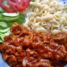 Tofu, Hungarian Recipes, Mashed Potatoes, Macaroni And Cheese, Chili, Bbq, Food Porn, Lunch, Baking