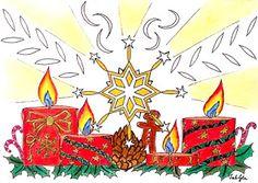 Lieschens-Bilder: Zentangle 340   4. Advent