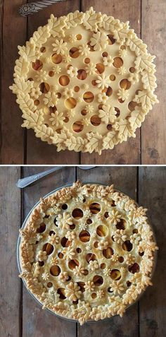 "thedesigndome: "" Baker Karin Pfeiff Boschek Showcases Her Skills With Before & After Shots Of Her Stunning Pie Crust Designs Keep reading "" Pie Crust Recipes, Tart Recipes, Fruit Recipes, Dessert Recipes, Strawberry Recipes, Strawberry Fruit, Dessert Ideas, Pie Crust Designs, Pie Decoration"