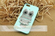 the harry potter jewelry owl green case for IPhone 4/4S case,iphone 5 (you can choose) on Etsy, $3.20