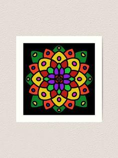 """Flower of Life Mandala"" Art Print by Pultzar   Redbubble"