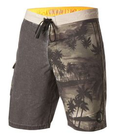 563b1ce921 Look what I found on #zulily! Green Trop Suey Boardshorts by O'Neill