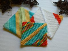 Ugly Hot Pads  Unique 1 2 3 by afewlittlebumps on Etsy