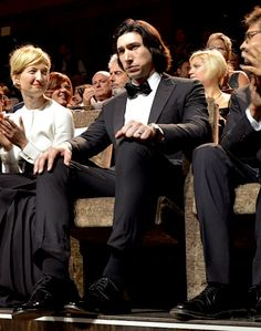 Adam Driver just sitting and looking fantastic