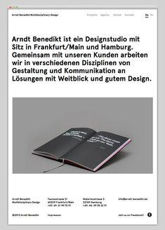 Creative Arndt, Benedikt, Website, Layout, and Design image ideas & inspiration on Designspiration Book Design Layout, Web Layout, Beautiful Web Design, App Design Inspiration, Website Layout, Design Studio, Presentation Design, Design Development, Design Reference