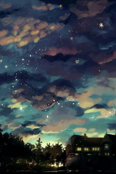 Clouds like a blanket of darkness composition photo, anime scenery wallpaper, anime backgrounds wallpapers Fantasy Landscape, Landscape Art, Fantasy Art, L Wallpaper, Anime Scenery Wallpaper, Composition Photo, Art Naruto, Japon Illustration, Wow Art