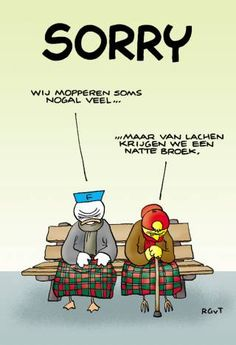 Fokke & Sukke, en ouder worden... ;) Cute Quotes, Funny Quotes, Old Lady Humor, Quotes About Grandchildren, Punny Puns, Coaching, Cartoon Jokes, Surf, Picture Postcards