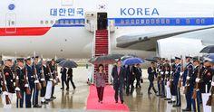 South Korean President Park Geun Hye Arrives in United States | Koogle TV