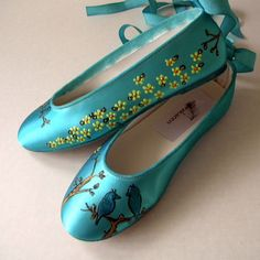 For Jordan. tiffany blue flats branches and  birds..