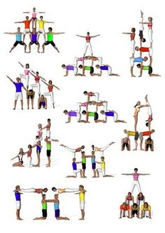 Yoga for Weight Loss: What you need know to succeed sextetos de acrosport Acro Yoga Poses, Dance Poses, Group Yoga Poses, Partner Yoga, Acro Danza, Chico Yoga, Cheer Workouts, Acrobatic Gymnastics, Sport Fitness