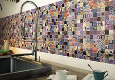 Artisan mosaic. Eccentric kitchen wall design idea