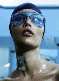 'Swim Team' Tara Gill by Leda & st. Jacques for Elle Canada July 2012