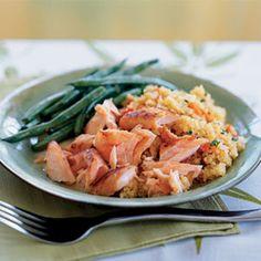Quick-Cured Sake Salmon w/ Quinoa Recipe