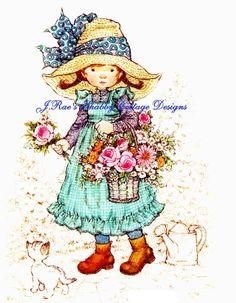 Sweetest Holly Hobbie Gardening Vintage by JRaesShabbyCottage