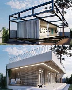 Building A Container Home, Container Buildings, Container Architecture, Small House Design, Modern House Design, Future House, My House, Architecture Cool, Shipping Container Home Designs