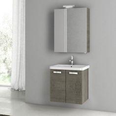 ACF by Nameeks ACF CP05-GO City Play 22-in. Single Bathroom Vanity Set - Gray Oak Senlis - ACF CP05-GO-